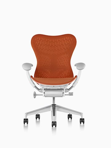 Orange Mirra 2 office chair.