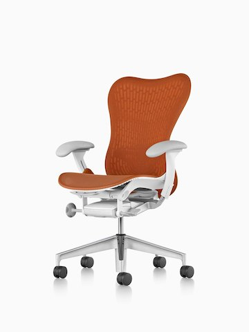 Orange Mirra 2 office chair. Select to go to the Mirra 2 Chairs product page.
