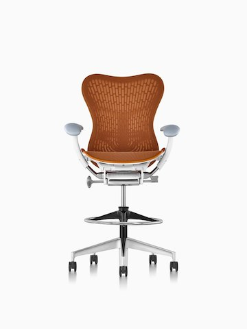 Orange Mirra 2 Tabouret.