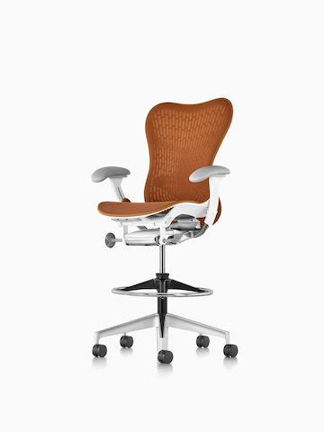 Orange Mirra 2 Stool. Select to go to the Mirra 2 Stool product page.