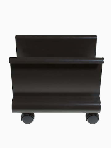 A black Mobile CPU Holder on casters. Select to go to the Mobile CPU Holder product page.