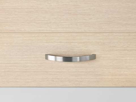Close view of a Mora clinical casework system drawer pull.