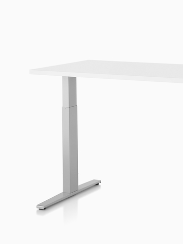 A Motia Sit-to-Stand Table with a white top. Select to go to the Motia Sit-to-Stand Tables product page.