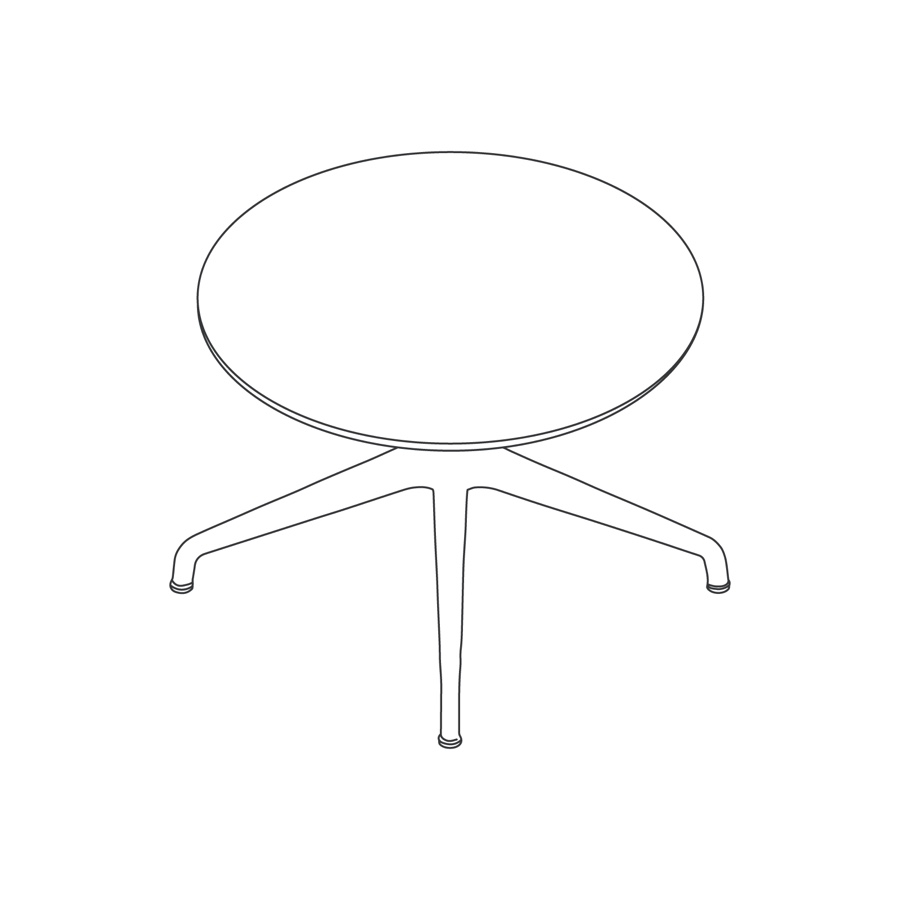 A line drawing - Ali Coffee Table–Round