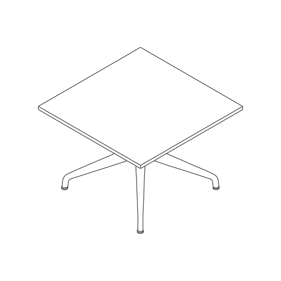 A line drawing - Ali Coffee Table–Square