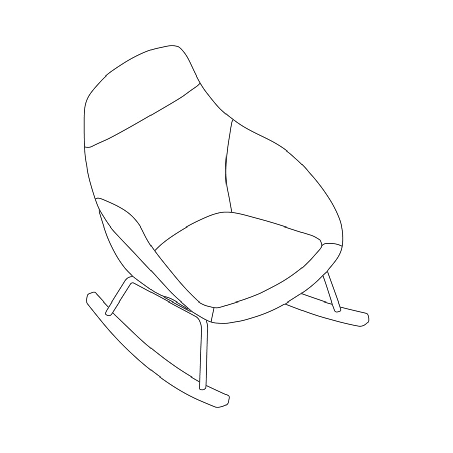 A line drawing - Always Lounge Chair–Rocker Base