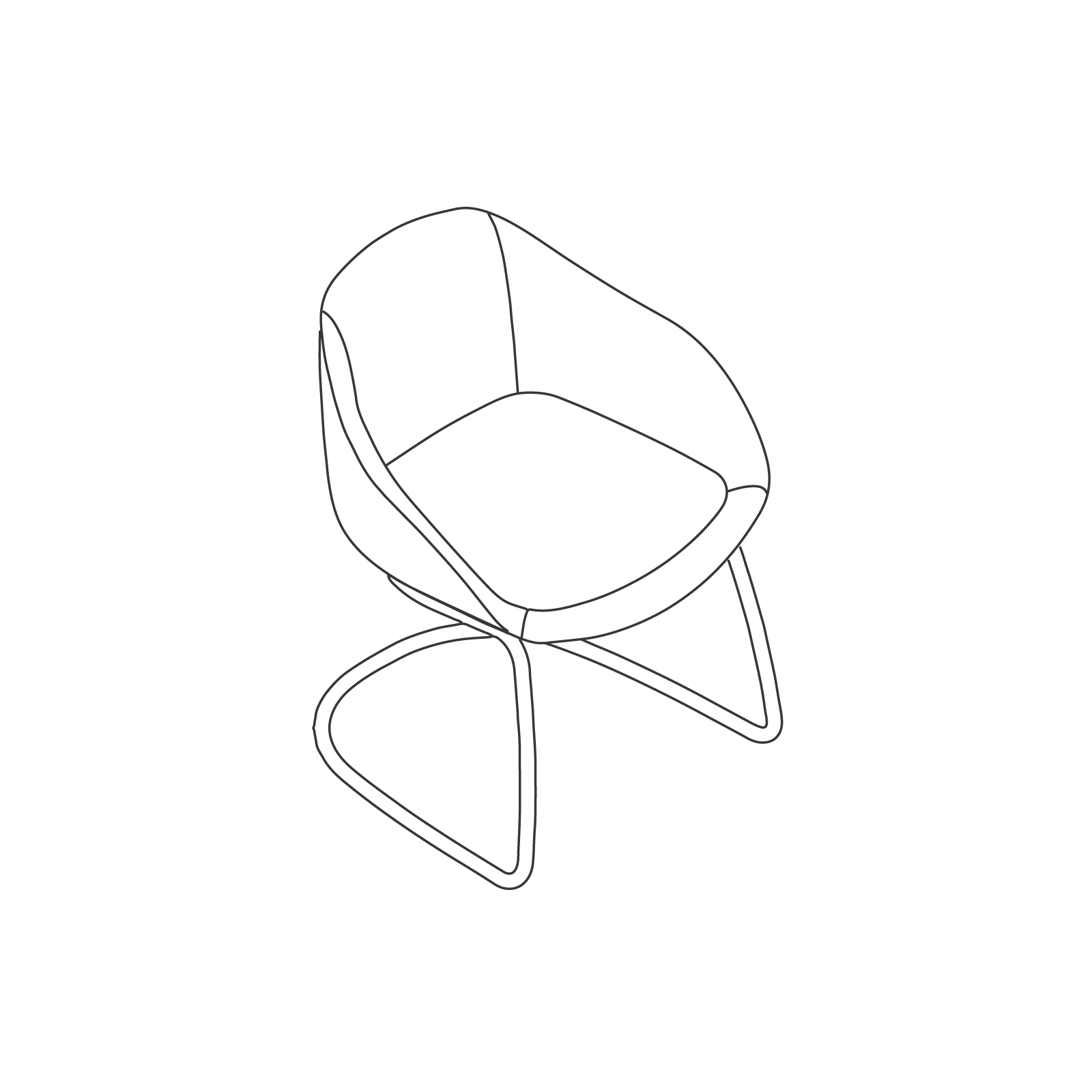 A line drawing of Always Side Chair–Cantilever Base.