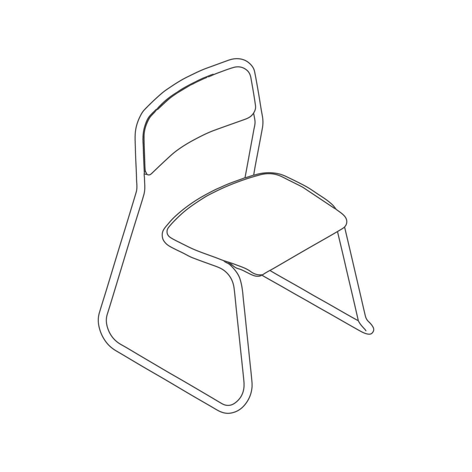 A line drawing of Bounce Chair.