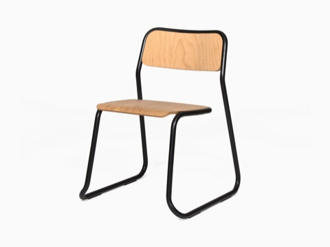 A black naughtone Bounce Chair, viewed at an angle.