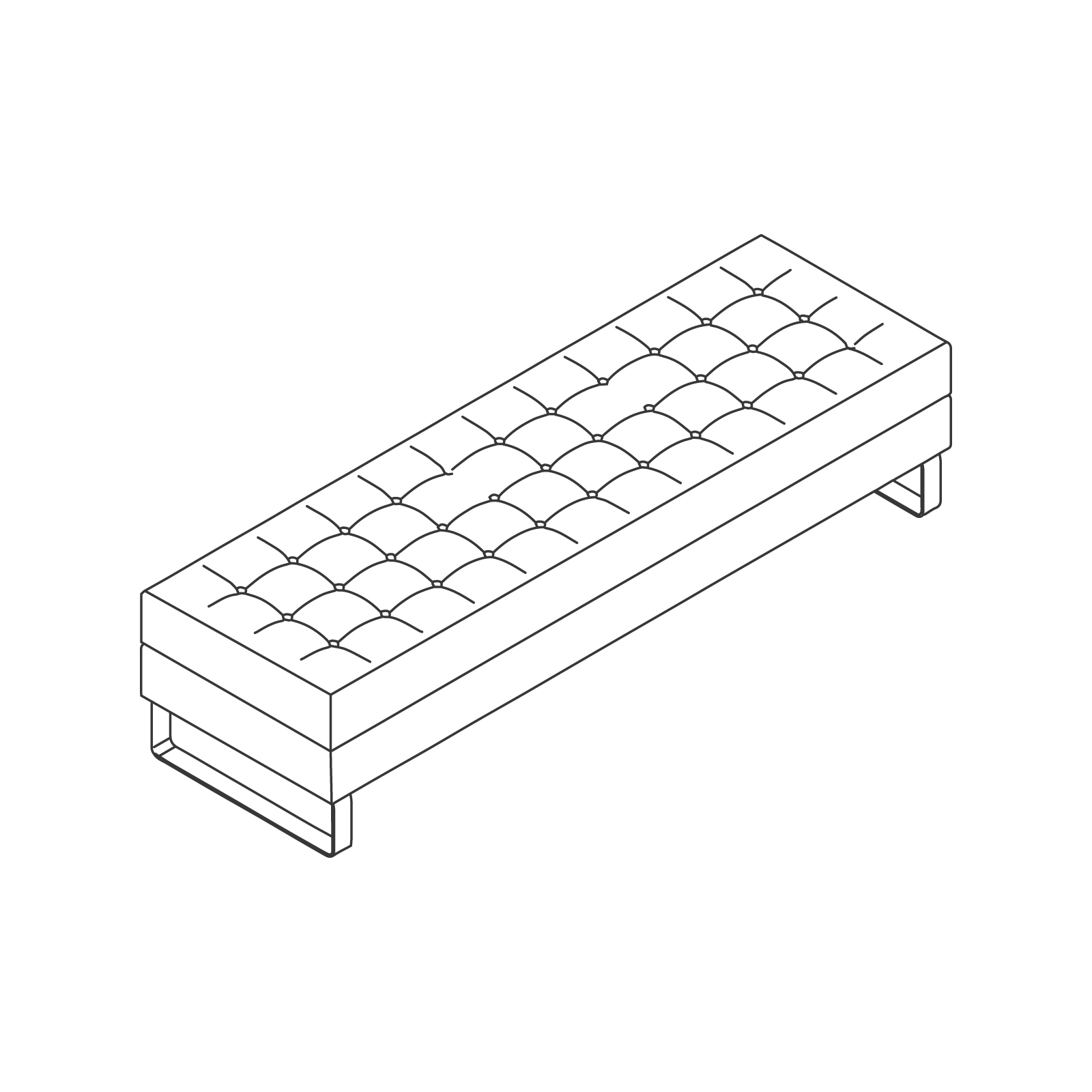 A line drawing of Clyde Bench–3 Seat.