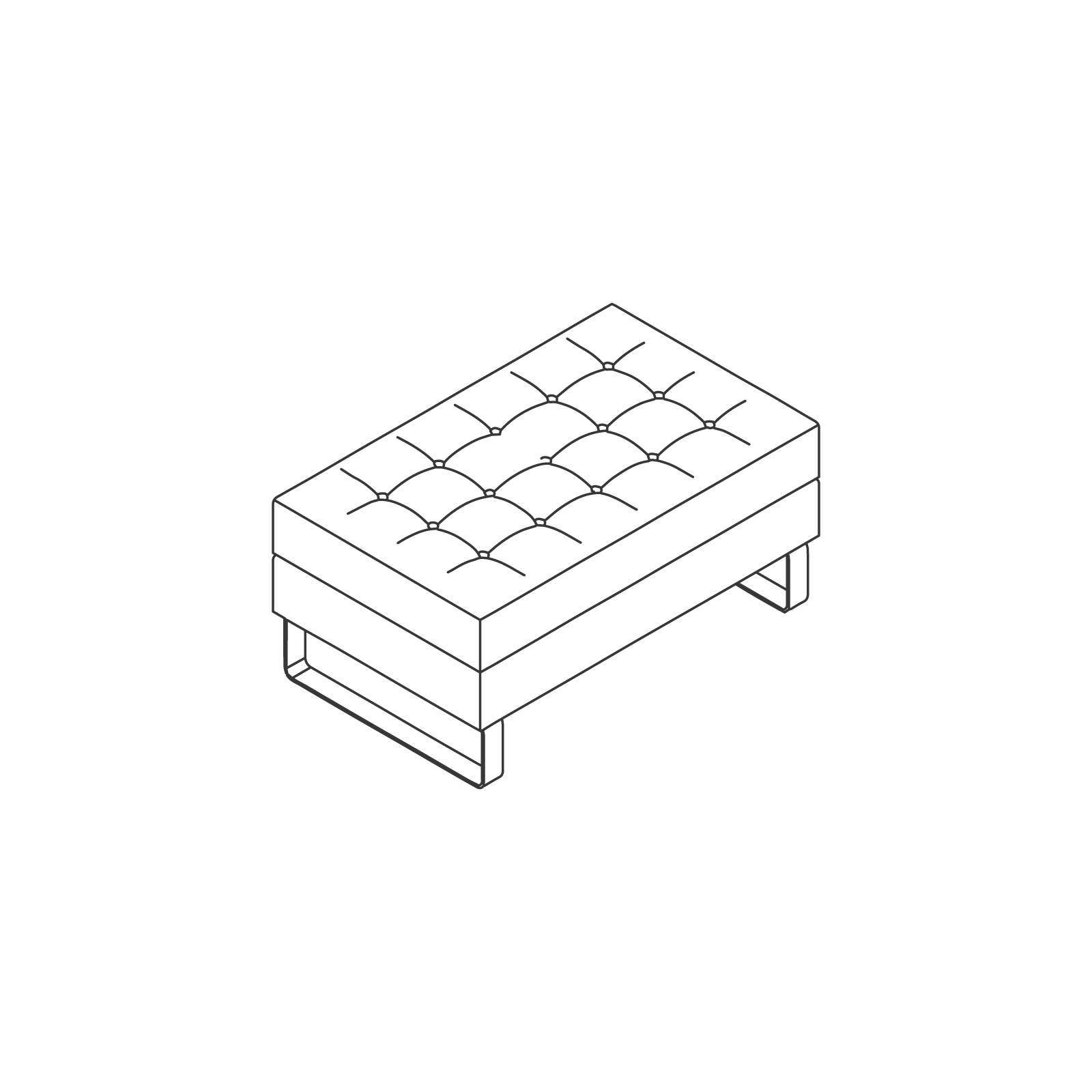 A line drawing of Clyde Single Stool.