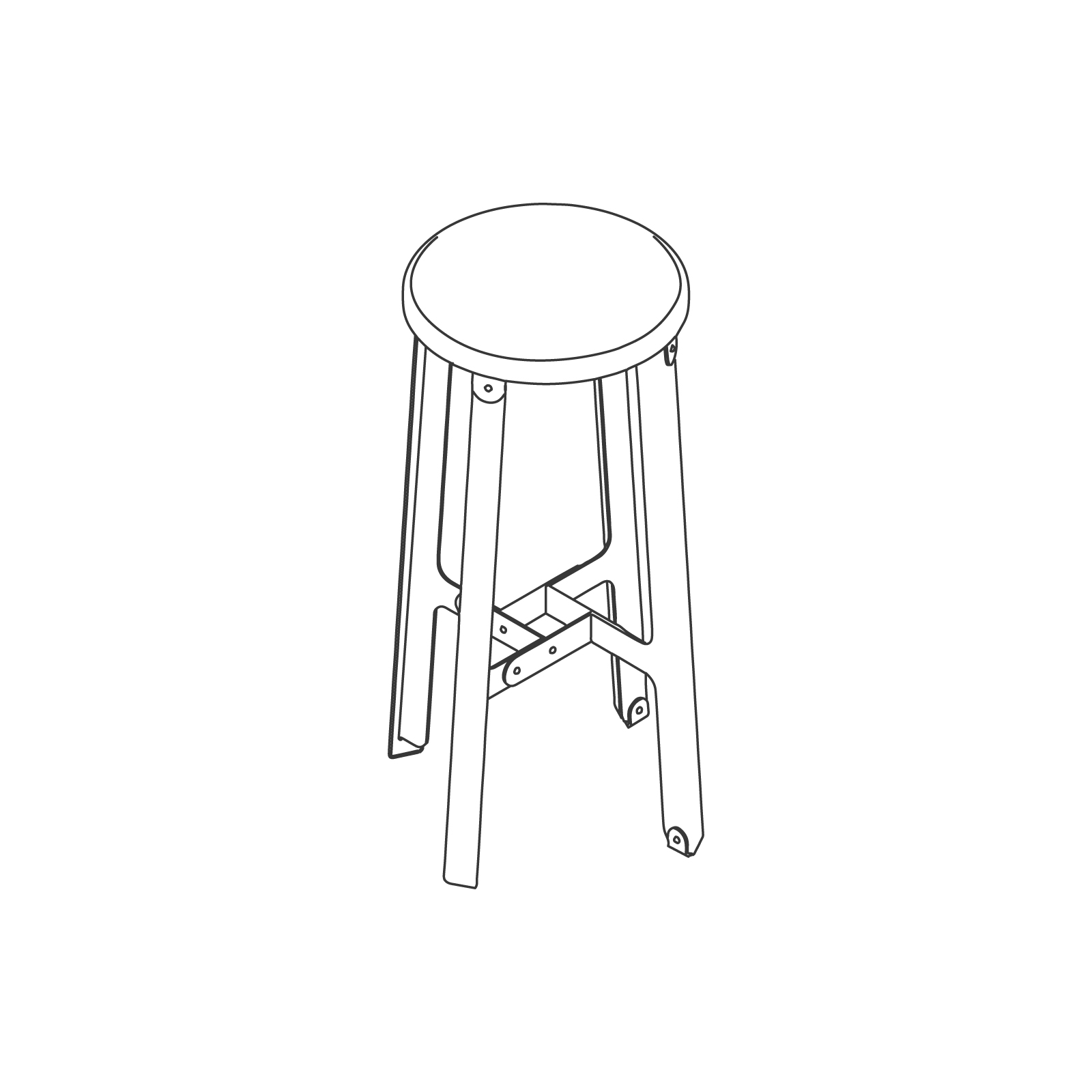A line drawing of Construct Stool–Bar Height.