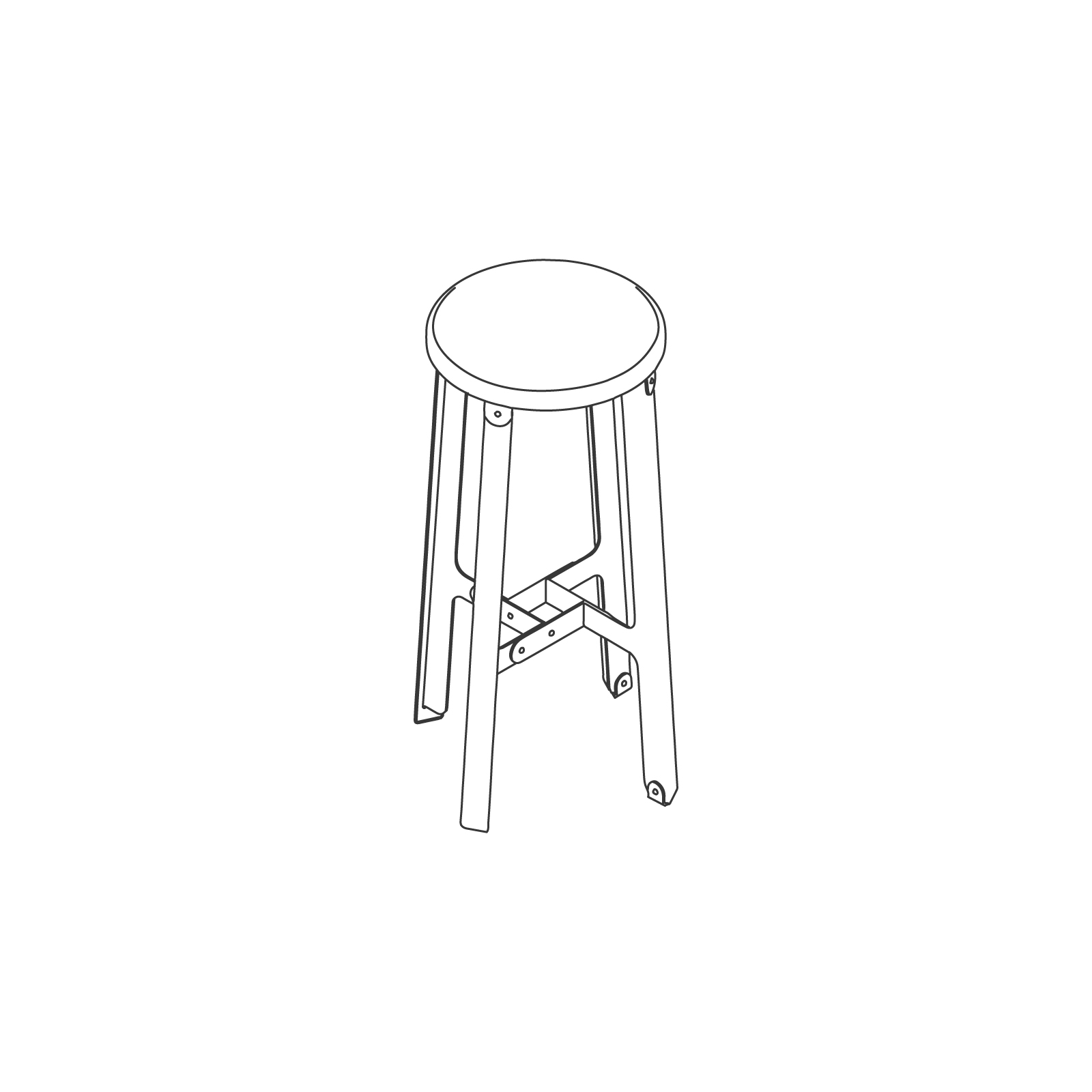 A line drawing of Construct Stool–Counter Height.