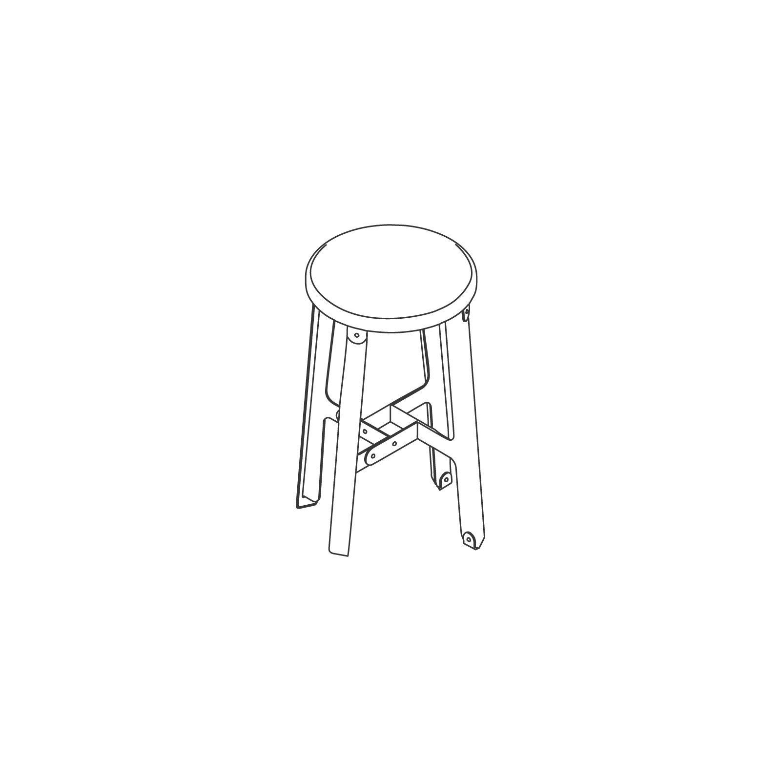 A line drawing of Construct Stool–Low.