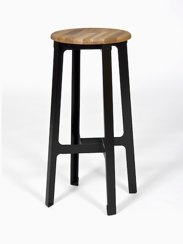 A bar height black naughtone Construct Stool.