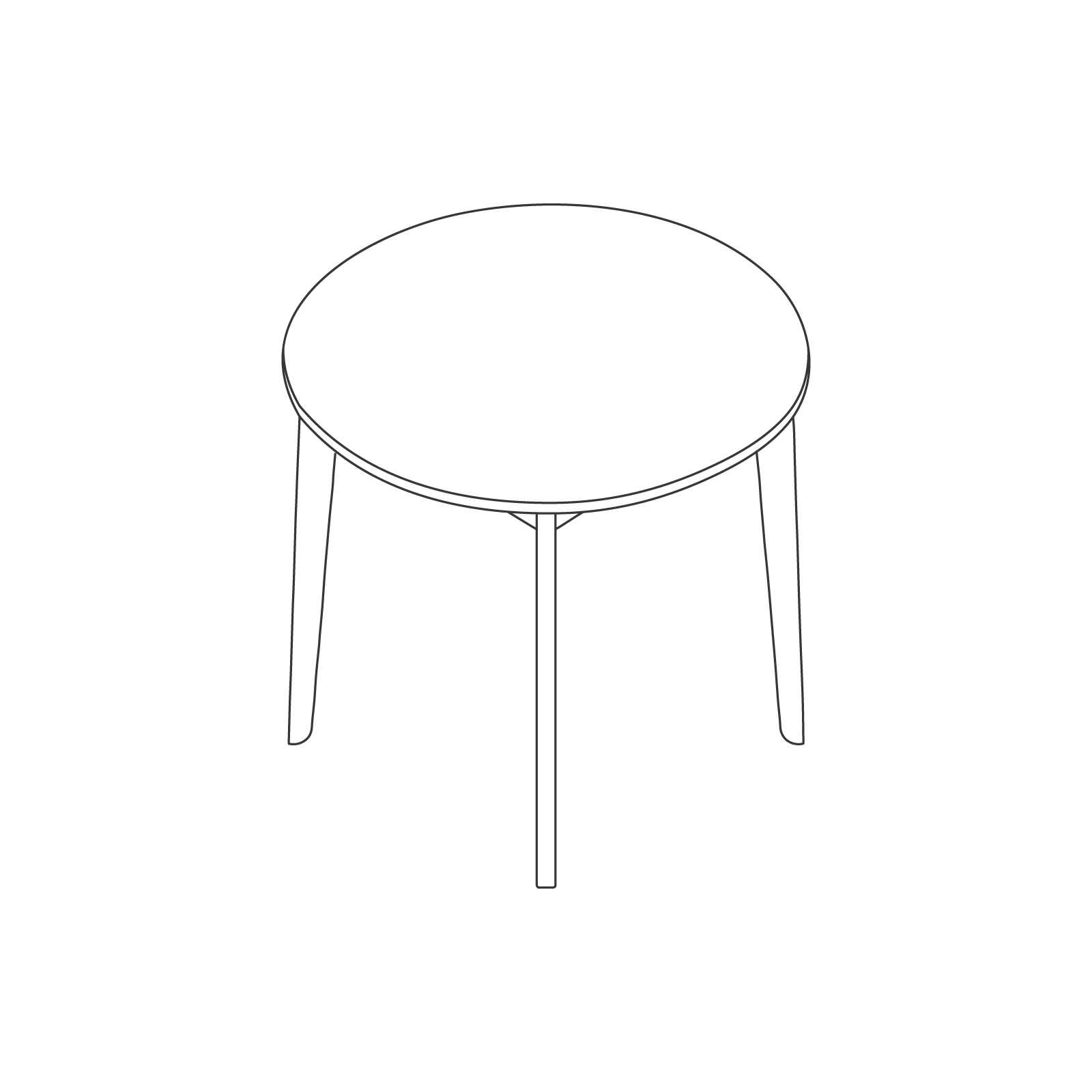 A line drawing of Dalby Café Table–Round.
