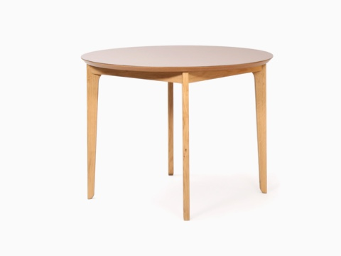 A round naughtone Dalby Café Table, viewed at an angle.