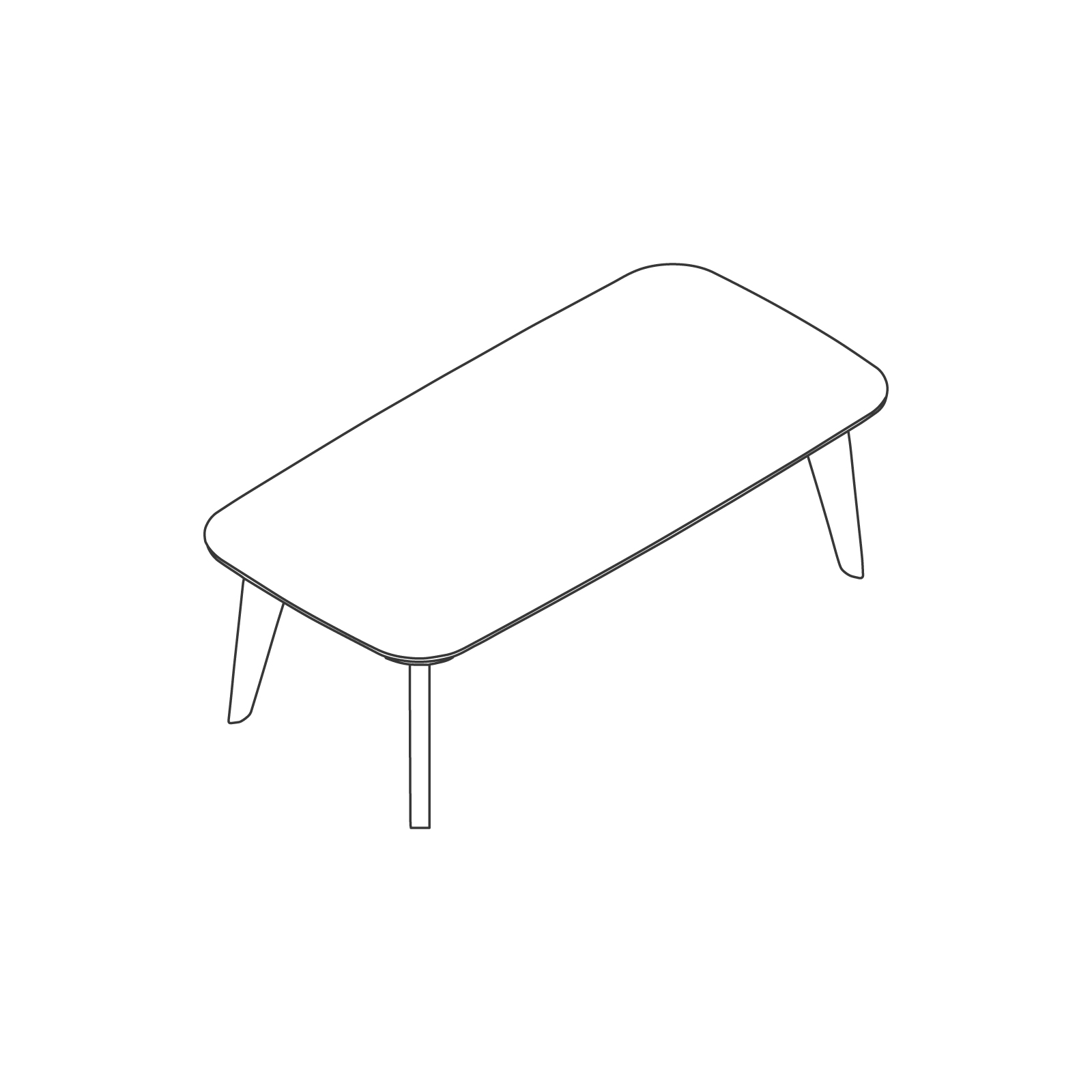 A line drawing of Dalby Coffee Table–Rectangular.