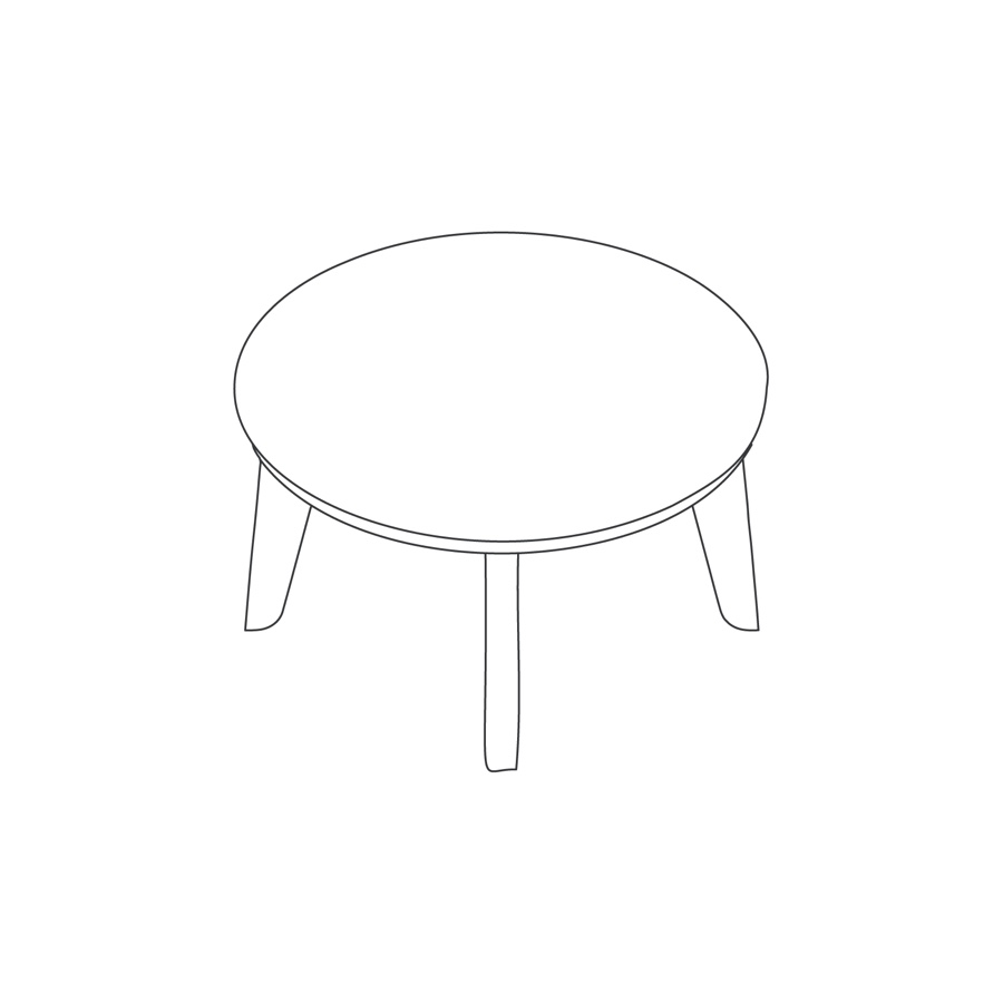 A line drawing of Dalby Coffee Table–Round.