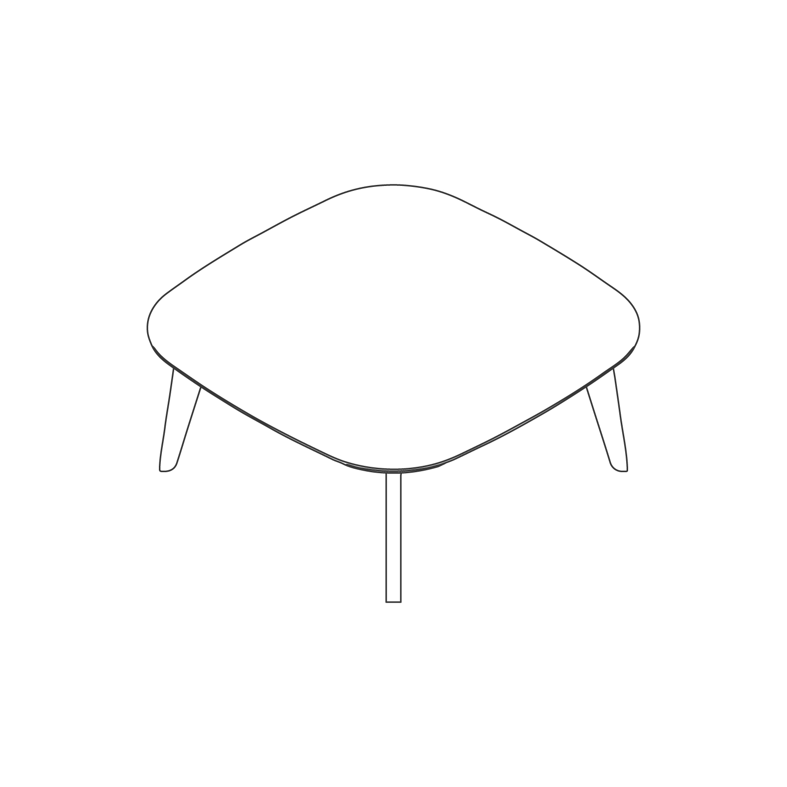 A line drawing of Dalby Coffee Table–Square.