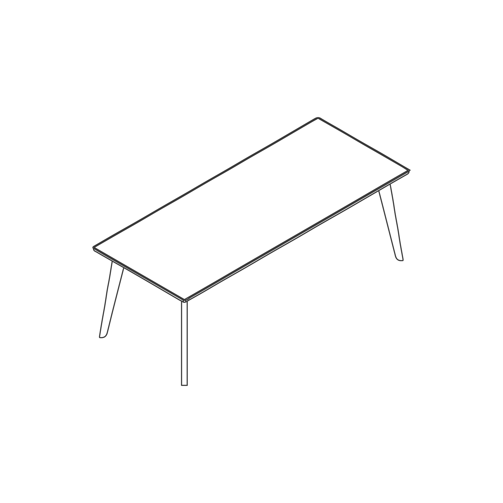 A line drawing of Dalby Conference Table–Rectangular.