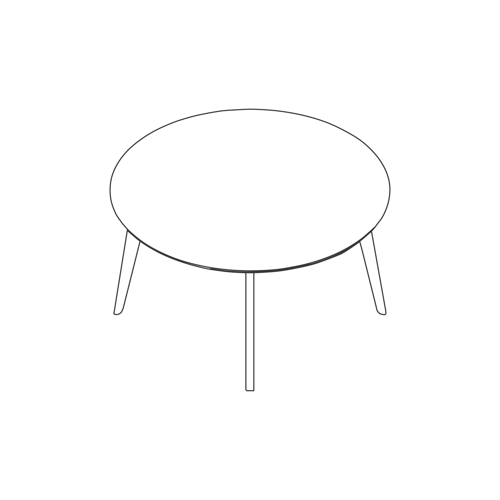 A line drawing of Dalby Conference Table–Round.
