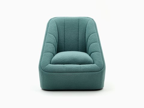 A textured teal naughtone Fiji Chair, viewed from the front.