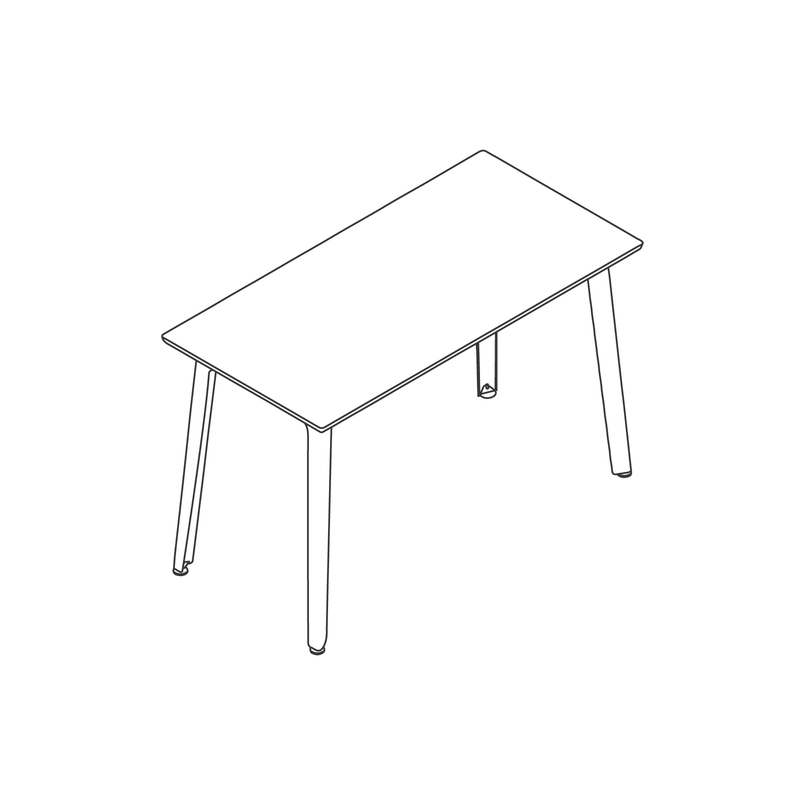 A line drawing of Fold Bar Height Table.