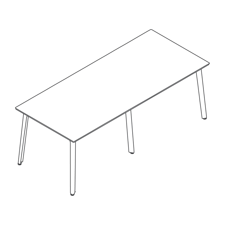 A line drawing of Fold Bar Height Table–6 Leg.