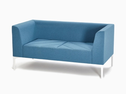 A light blue naughtone Hatch Sofa, viewed at an angle.