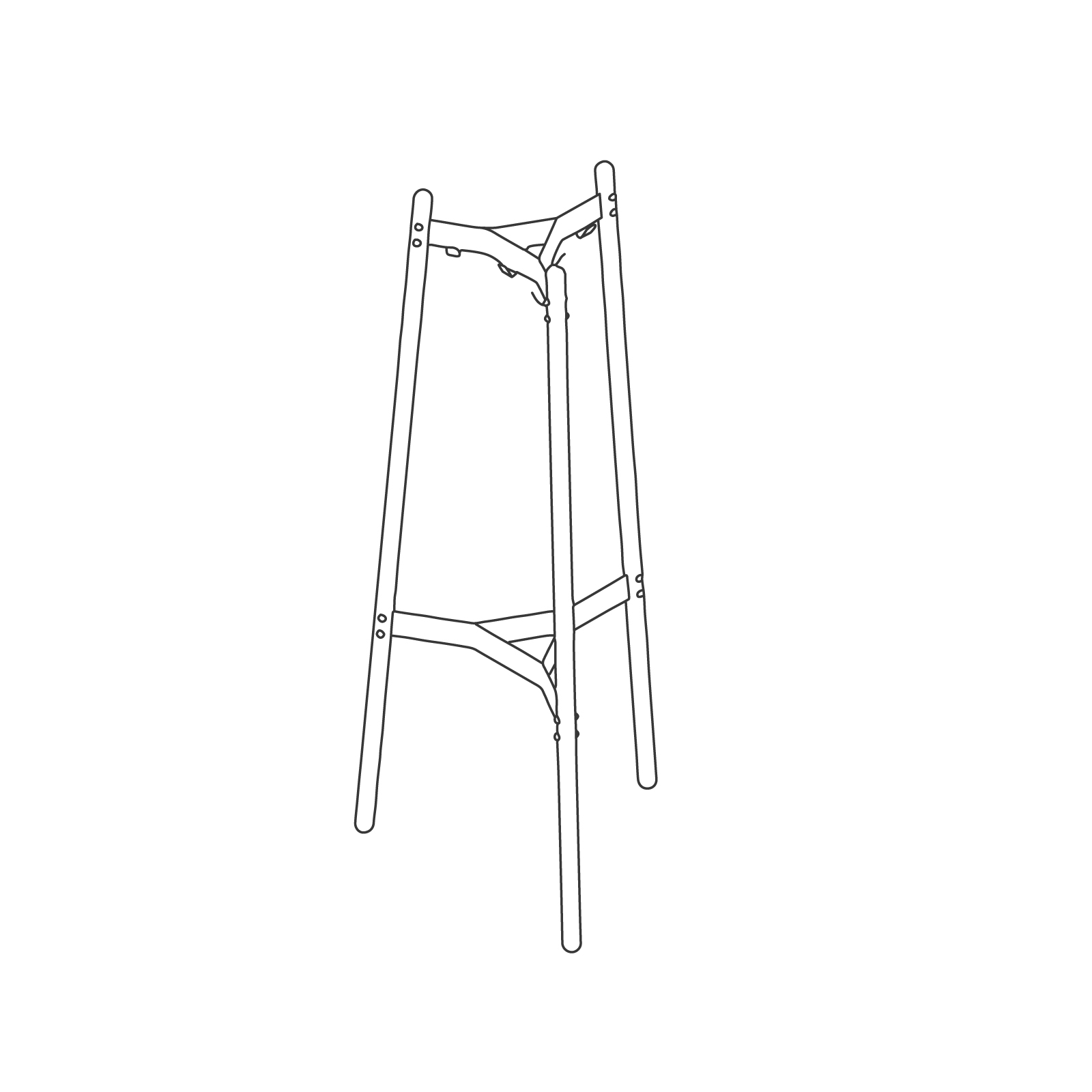 A line drawing - Hudson Coat Stand