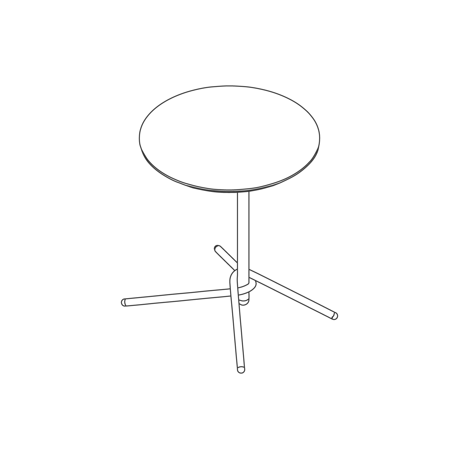 A line drawing of Knot Side Table–Round.