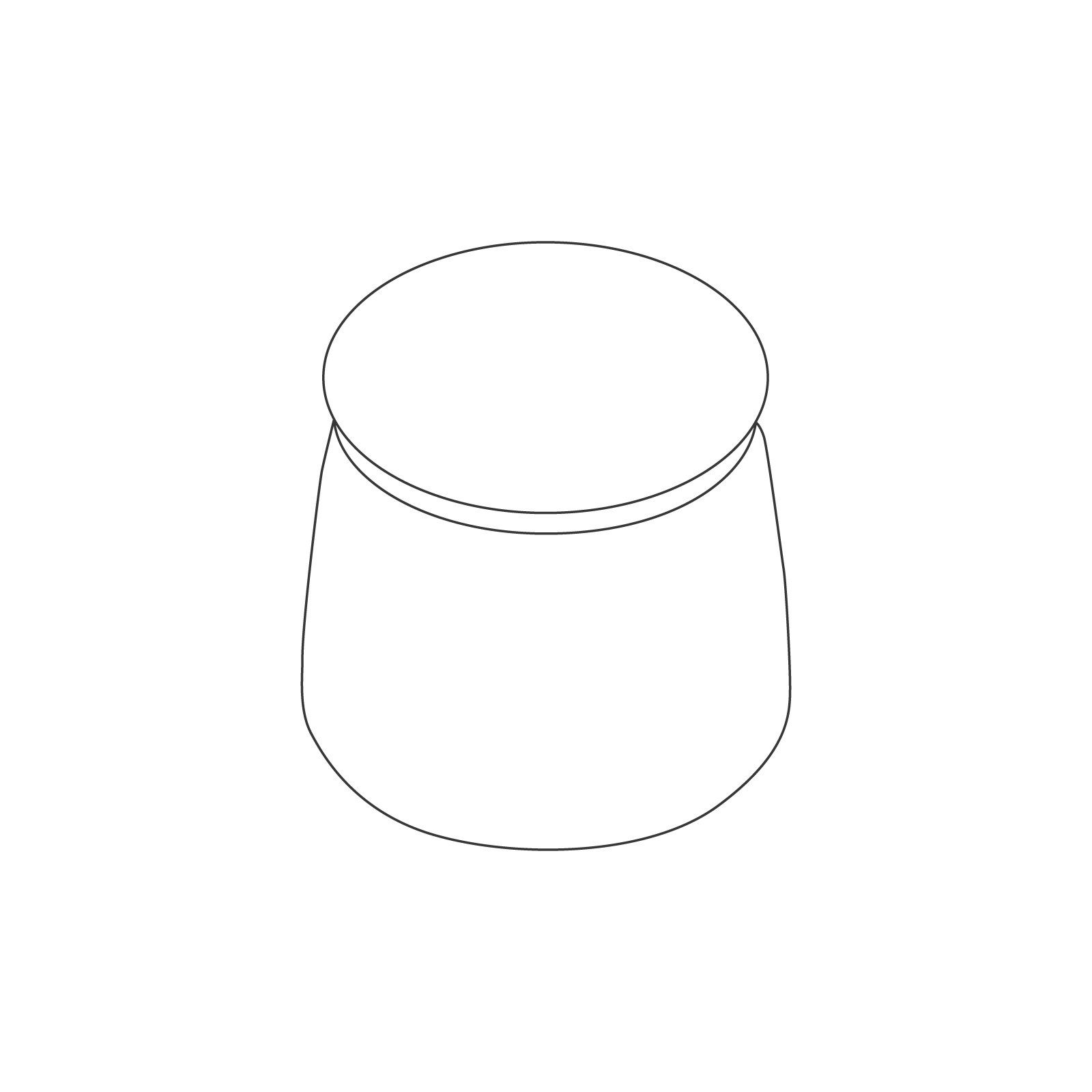 A line drawing - Lasso Stool–1 Seat