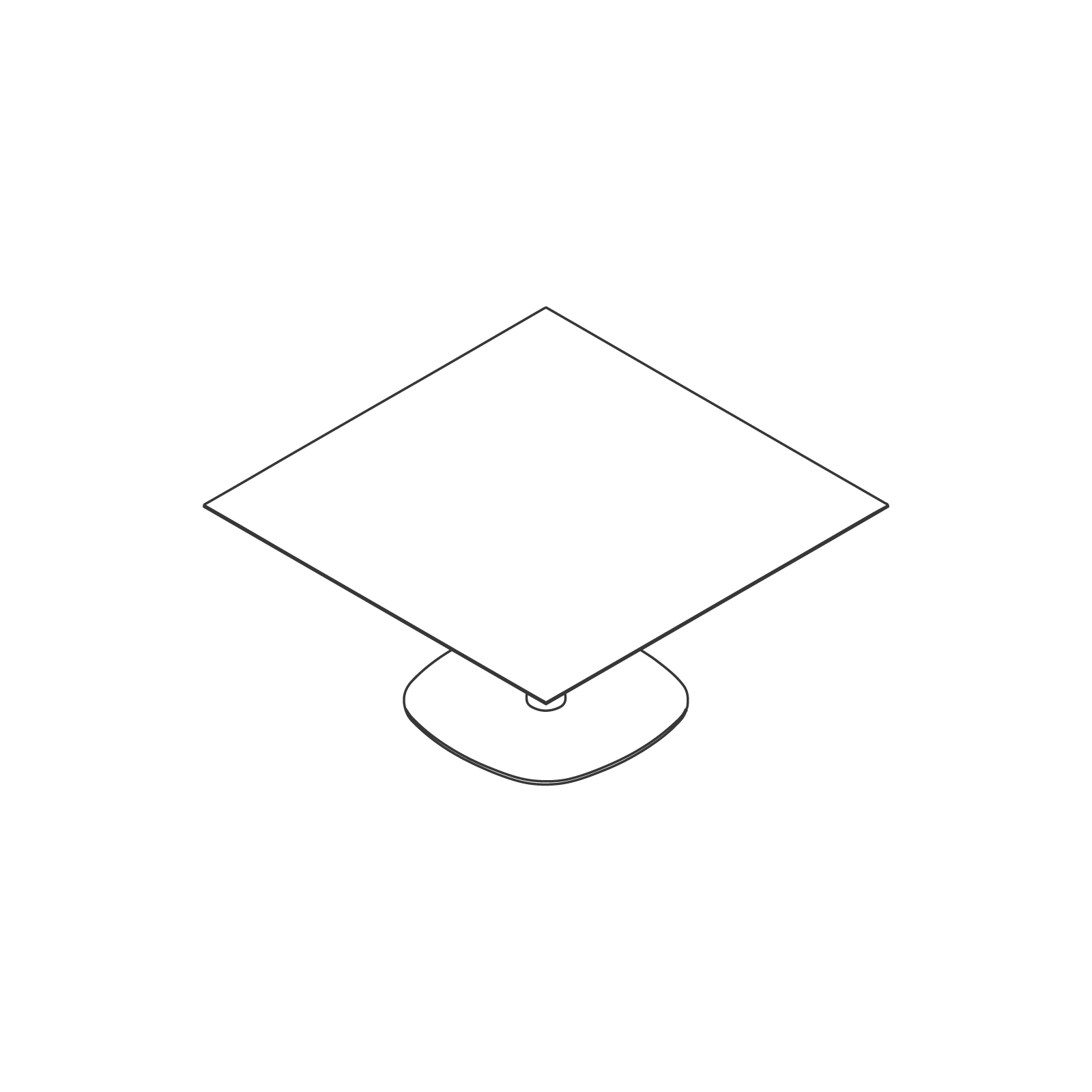 A line drawing of Megaped Table–Square.