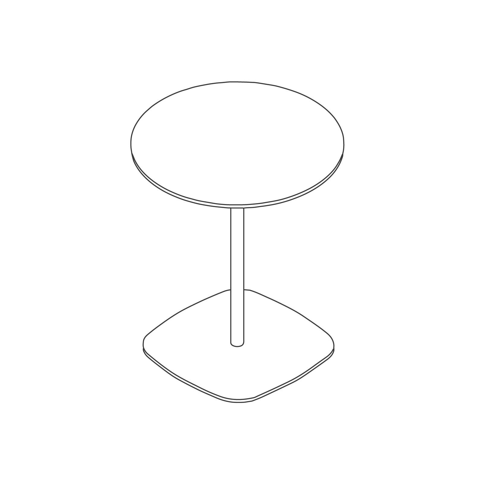 A line drawing - Ped Coffee Table–Round