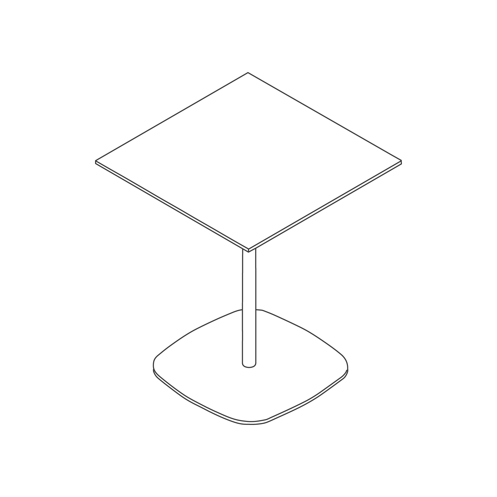 A line drawing - Ped Coffee Table–Square