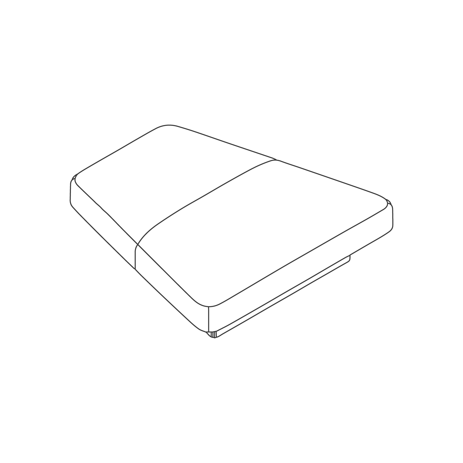 A line drawing of Rhyme Modular Seating–Bench.
