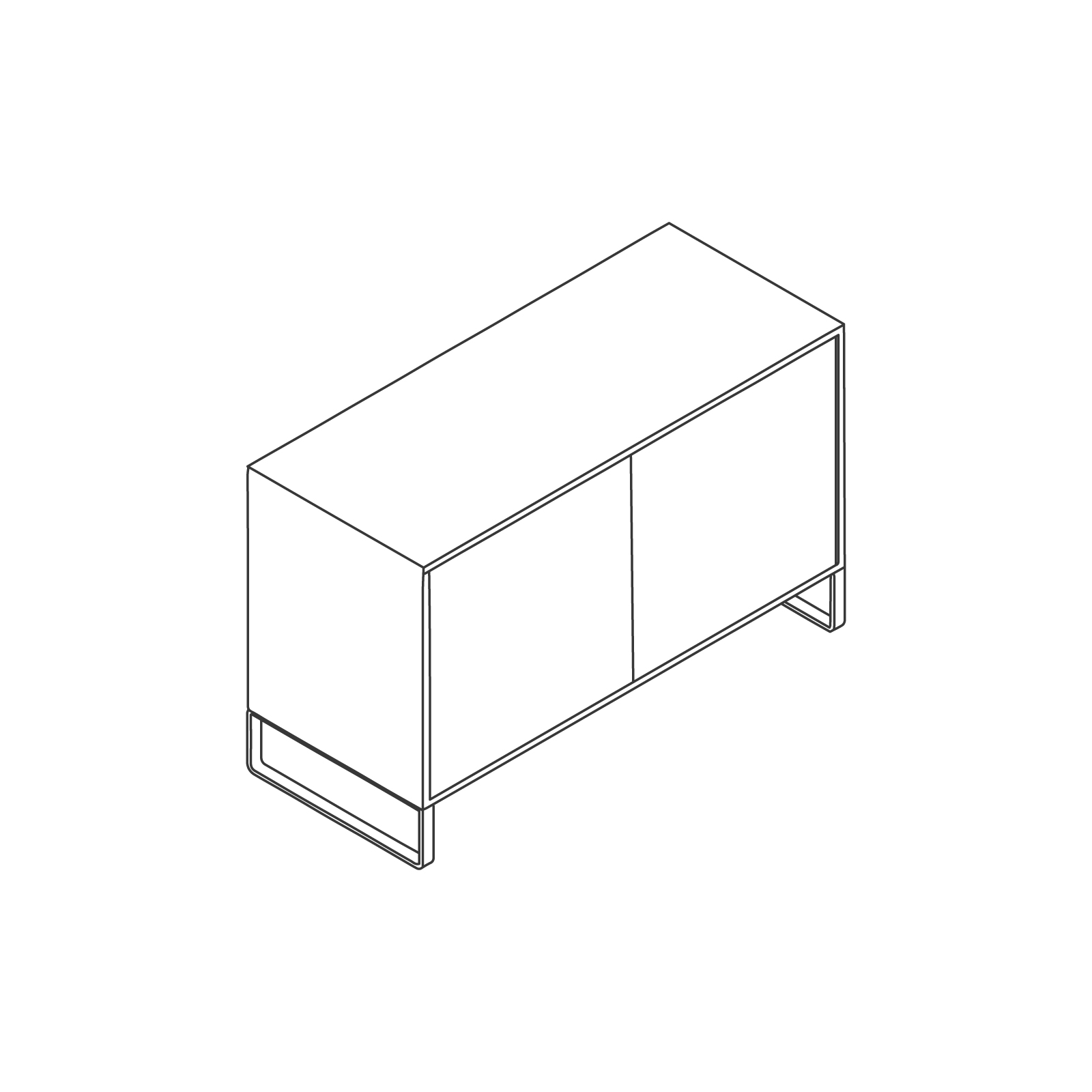 A line drawing of Sideboard Storage–2 Door.