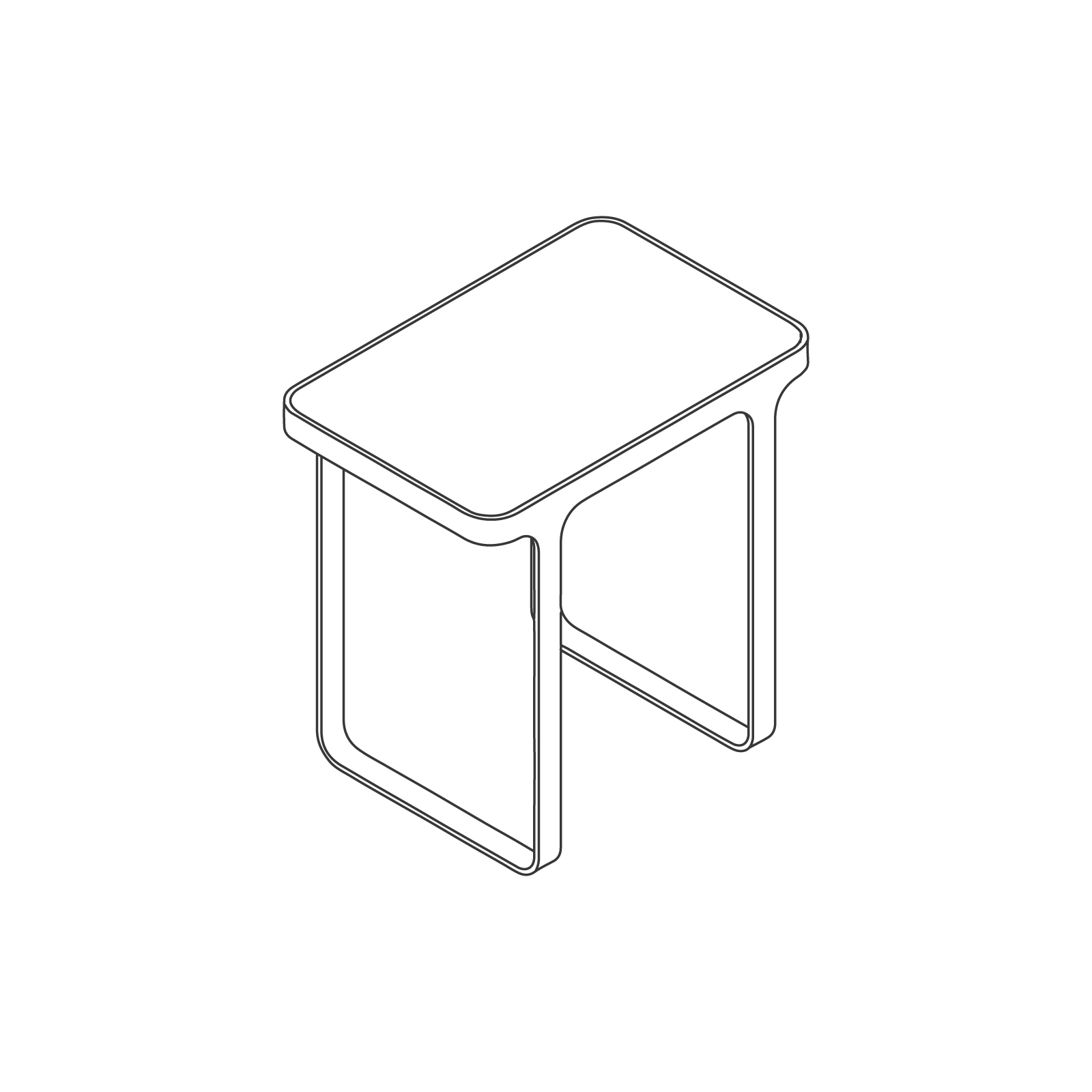 A line drawing of Trace Side Table.