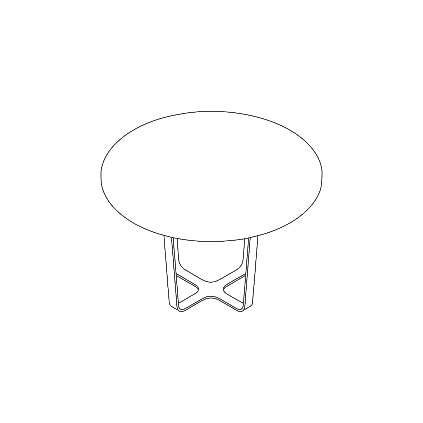 A line drawing of Trace Table–Round.