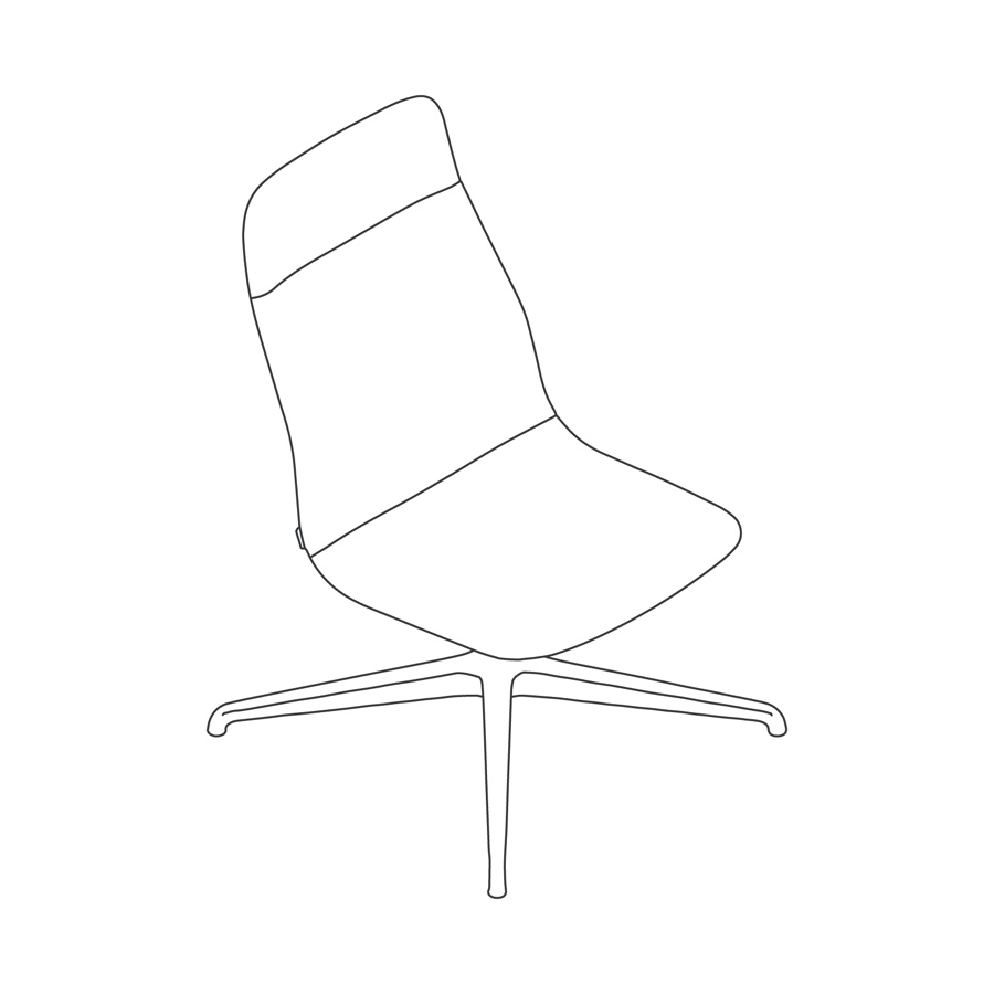 A line drawing - Viv High-Back Lounge Chair–Armless