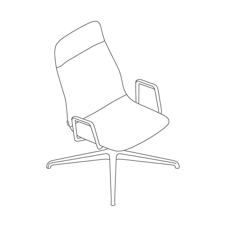 A line drawing - Viv High-Back Lounge Chair–With Arms