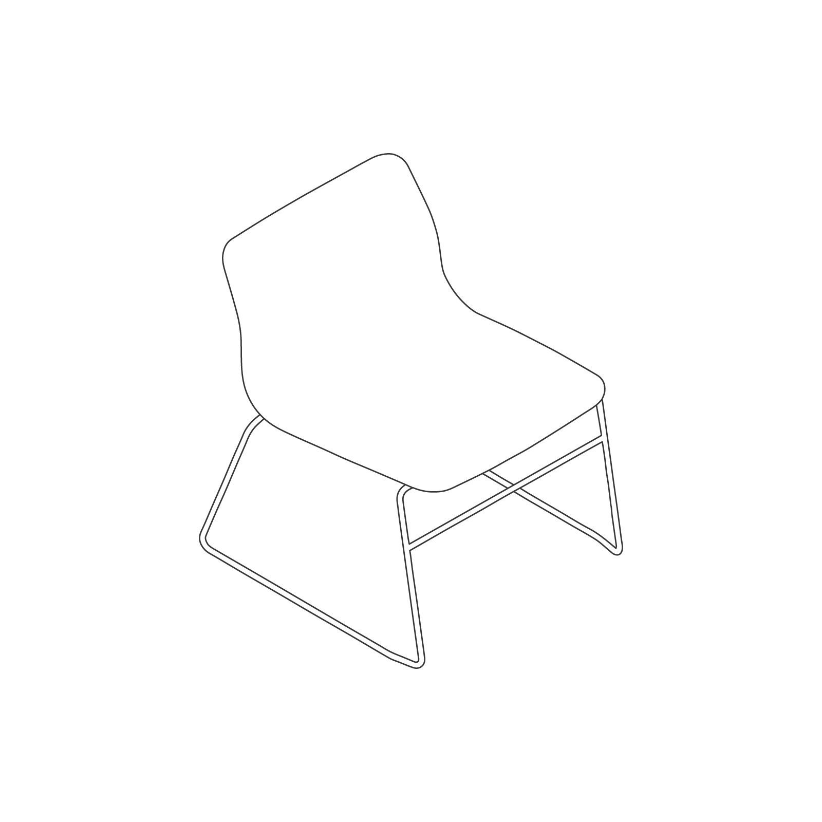 A line drawing of Viv Lounge Chair.