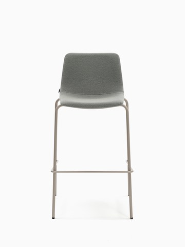 A light gray naughtone Viv Stool with a metal base, viewed at an angle.
