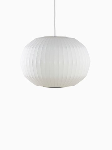 A white hanging lamp.