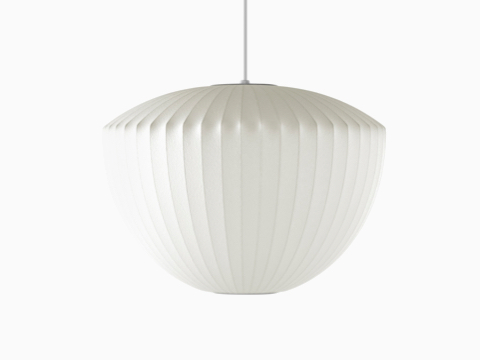 A white hanging Nelson Apple Bubble Pendant lamp.