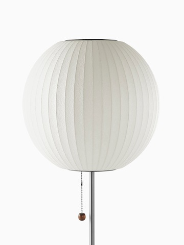 A white table lamp. Select to go to the Nelson Ball Lotus Table Lamp product page.