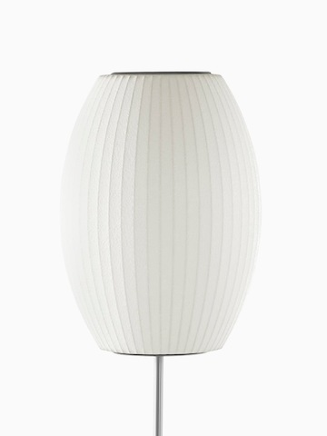 A white floor lamp. Select to go to the Nelson Cigar Lotus Floor Lamp product page.