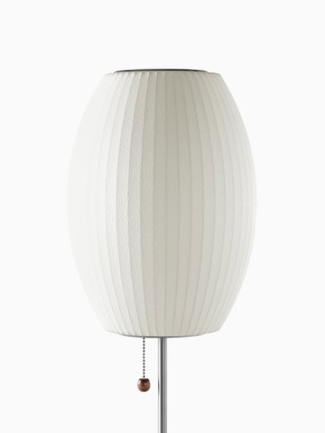 A white table lamp. Select to go to the Nelson Cigar Lotus Table Lamp product page.
