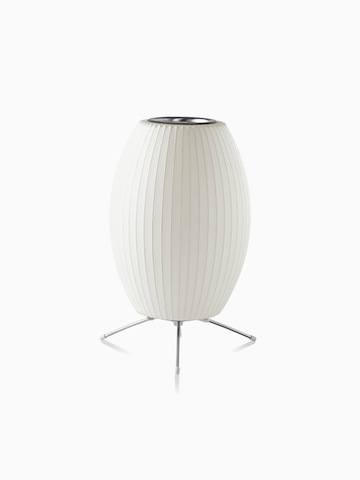 A white table lamp.